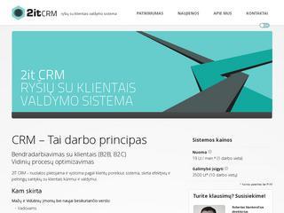 2it-CRM –  ryšių su klientais valdymo sistema