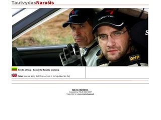 Autolenktynininko Tautvydo Narušio asmeninis puslapis