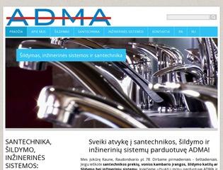 ADMA santechnika, šildymo, inžinerinės sistemos