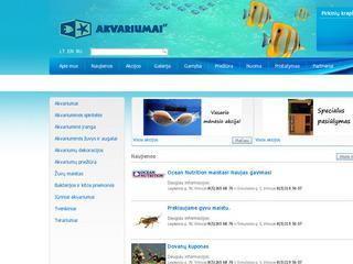 Akvariumai, jų gamybą ir visos susijusios paslaugos