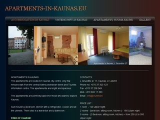 Apartamentų nuoma Kaune, J. Gruodžio 17