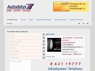 Autodalys777 – naujos autodalys internetu geromis kainomis