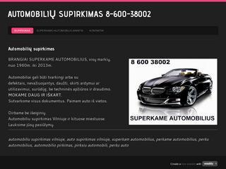 Automobilių supirkimas 8-600-38002