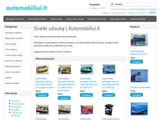 Internetinė automobilių prekių parduotuvė