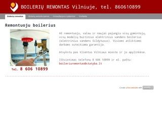 Boilerių remontas, Vilnius