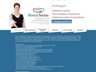 Bonus Socius buhalterinės paslaugos