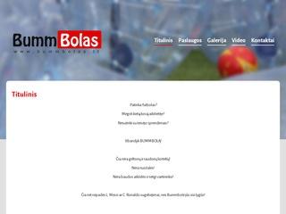 Bummbolas – futbolas burbuluose