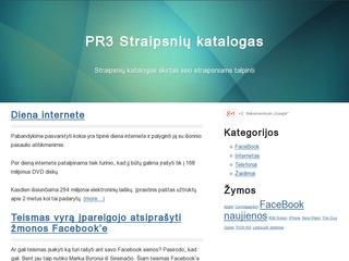 PR3 Straipsnių katalogas