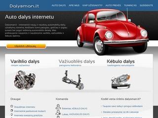 Auto dalys internetu