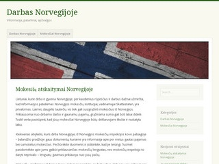 darbas uzsienyje norvegija