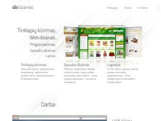 www.dbdizainas.lt Tinklalapių kūrimas