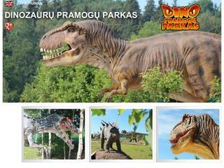dinozaurų ir pramogų parkas netoli Vilniaus
