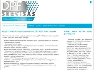 DPF filtrų valymas