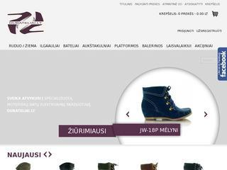 Moteriškų batų elektroninė parduotuvė Dubateliai.lt