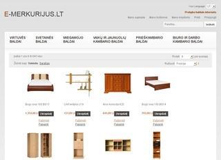Prekyba baldais – www.e-merkurijus.lt