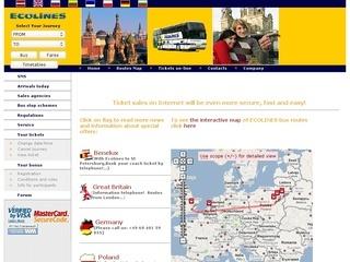 Ecolines Tarptautiniai autobusų bilietai