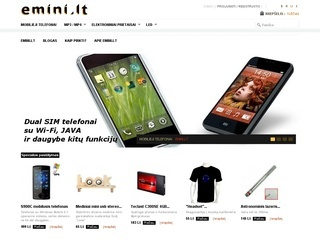 emini.lt yra internetinė parduotuvė prekiaujanti įvairiomis elektronikos prekėmis.