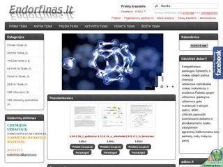 Endorfinas.lt-tai šiolaikiškas ir vienas iš didžiausių chemijos ir biochemijos puslapių Lietuvoje!