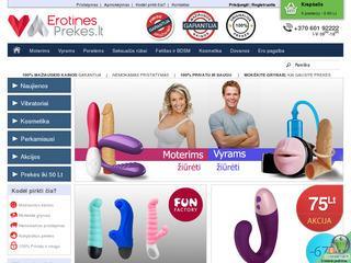 Erotinės prekės / Sekso prekių parduotuvė