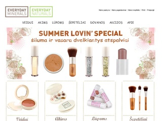 Mineraline kosmetika Everyday Minerals