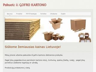 Gofro kartono FEFCO didmeninė prekyba