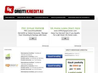 Greiti kreditai | Kreditai internetu | Nemokami kreditai | Kreditai be užstato