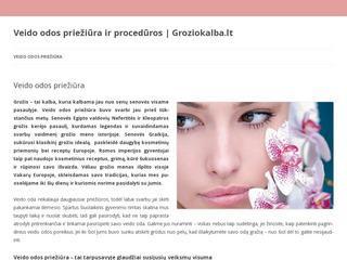Veido odos priežiūra ir procedūros