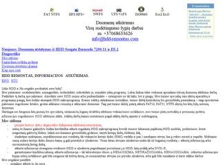 HDD remontas, informacijos atkūrimas