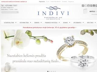 Sužadėtuvių žiedai, Vestuviniai žiedai, Papuošalai su deimantais – Indivi.lt