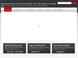 Interneto svetainių kūrimas ir Svetainės web dizainas