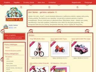 Žaislų internetinė išparduotuvė
