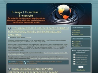 E-sauga. Elektroninis parašas. E-tapatybė