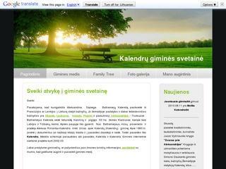 Kalendrų giminės genealoginis medis