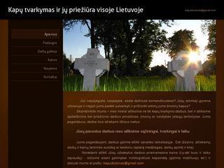 Kapų sutvarkymas ir priežiūra visoje Lietuvoje