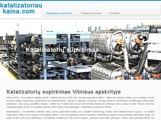 Katalizatorių supirkimas Vilniuje