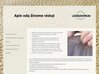 Lederzentrum Lietuva – odos restauravimas