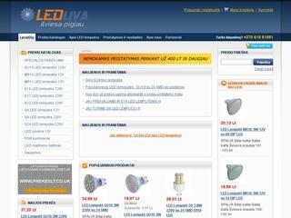 Led lempučių internetinė parduotuvė.