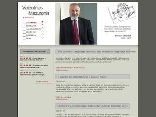 Architekto, politiko V.Mazuronio puslapis