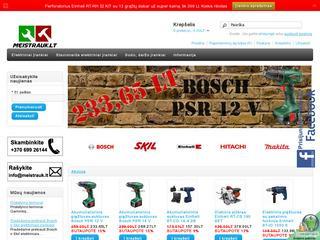 Elektrinių įrankių parduotuvė internete – Meistrauk.lt