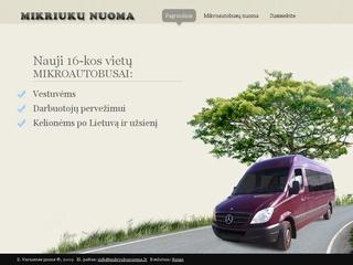 Mikroautobusų (mikriukų) nuoma Lietuvoje