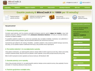 Mikrocredit.lt – paskolos internetu per 15 minučių