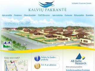 Kalvių pakrantė – gyvenamųjų namų kvartalas Klaipėdos rajone