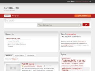 Portalas www.nuomai.eu – tik nuomos skelbimams!