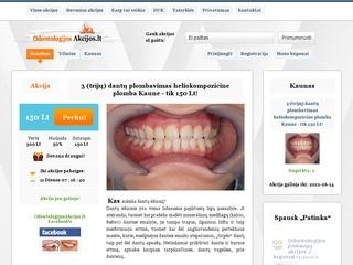 Odontologijos kuponai