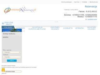 Internetinis kelionių, aviabilietų, viešbučių pardavimo puslapis