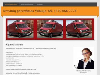 Krovinių pervežimas Vilniuje