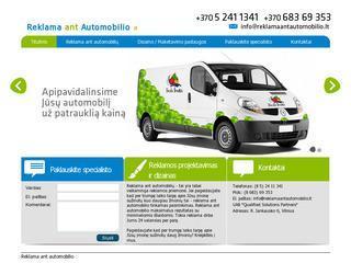Reklama ant automobilio – Lipdukai, plevele, apklijavimas