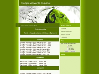 Google kuponai, facebook kuponai, reklama