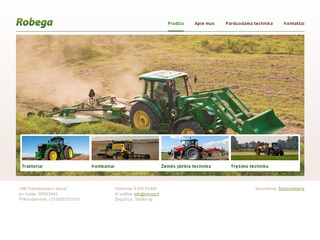 Robega – prekyba žemės ūkio technika.