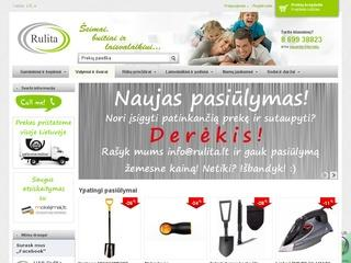 Internetinė parduotuvė www.rulita.lt